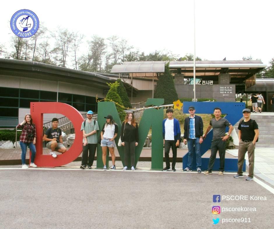 Equipe PSCORE lors d'un voyage a la DMZ.