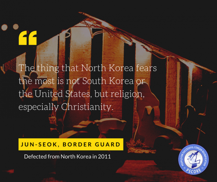 """In North Korea, [...] you cannot practice religion. It is not about believing in God or not. It is because religion would show the glaring contradictions in North Korea's ideology""."