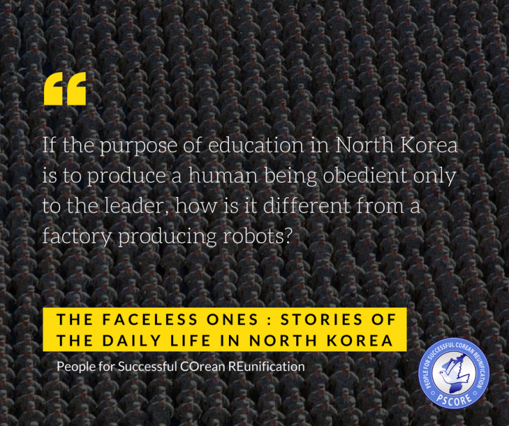 "What is the purpose of North Korean education ? - ""Loyalty"""